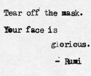 Rumi, face, and quotes image