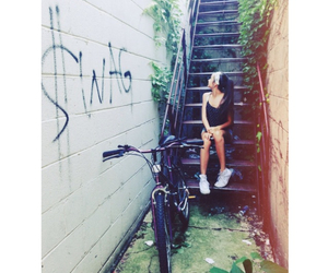 girl, swag, and bike image