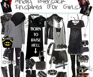 outfit, black veil brides, and andy biersack image