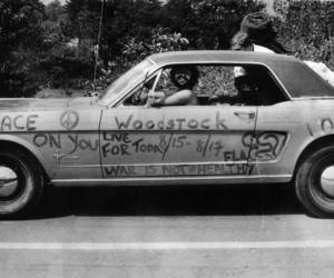 woodstock and car image