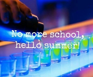 summer, drink, and school image