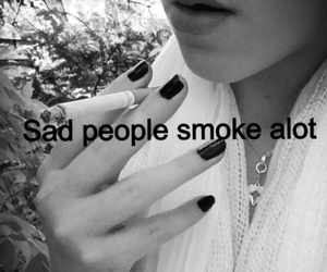 anorexic, black nails, and cigarette image