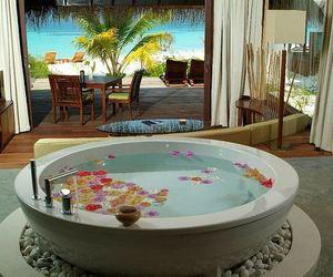 luxury, flowers, and beach image