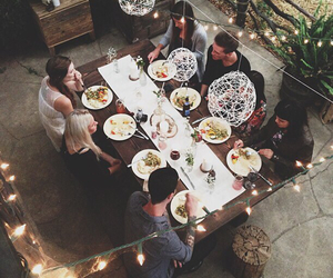 friends, food, and light image