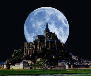moon, castle, and france image