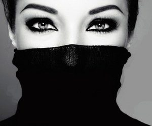 eyes, makeup, and black image