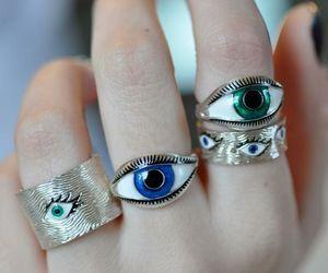 rings, eyes, and grunge image