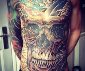 chest tattoo, tattoo, and Tattoos image