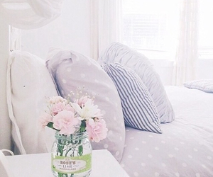 bedroom, flowers, and perfection image