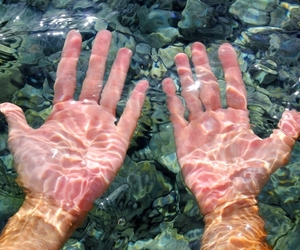 hands, water, and grunge image