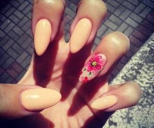 flower, nail art, and nails image