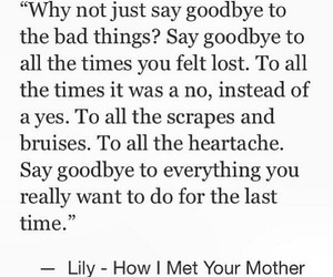 how i met your mother, lily, and quote image