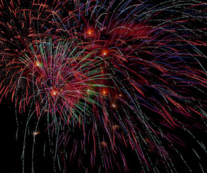 Canon 40D, city, and fireworks image