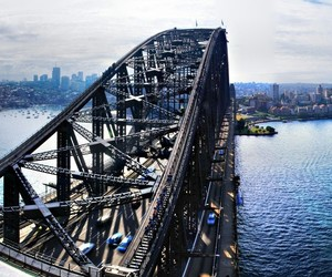australia, harbour, and bridge image