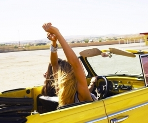girl, car, and summer image