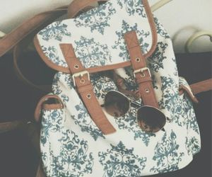 bag, sunglasses, and backpack image