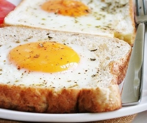 breakfast, egg, and coffee image