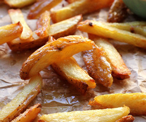 food, fries, and potatoes image