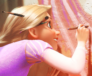 rapunzel, she is an artist, and she is so stupidly cute image