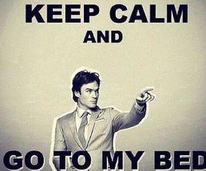 ian somerhalder, keep calm, and tvd image