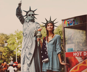 girl, new york, and model image