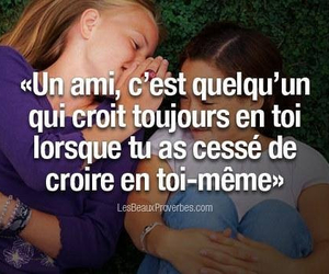 amis, proverbes, and francais image