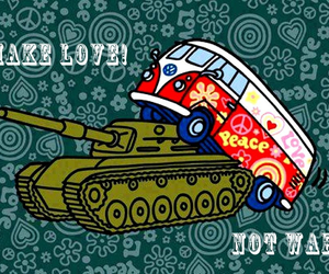 love, peace, and war image