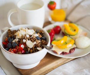 breakfast, granola, and yum image