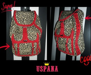 animal print, bagpack, and urban image