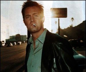 Matthew Perry, cigarette, and friends image