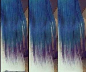 blue hair, colorful hair, and girl image
