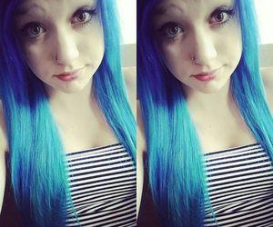 cute girl, scene girl, and colorfull hair image