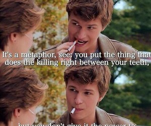 the fault in our stars, metaphor, and quote image