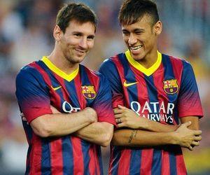 messi, neymar, and football image
