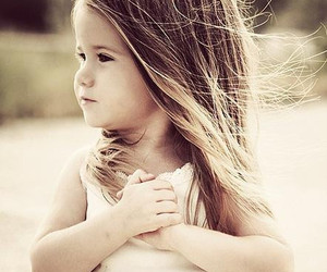 child, hair, and heart image