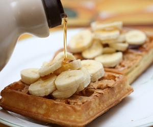 waffles, food, and banana image