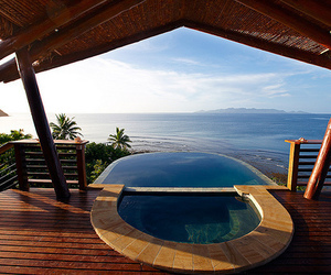 pool, ocean, and luxury image