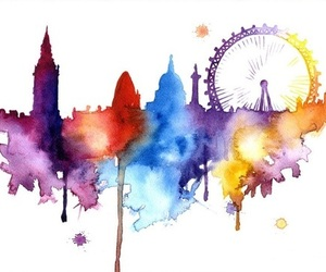 art, london, and love image