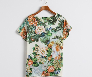 flowers, floral, and shirt image