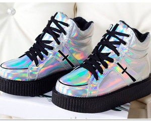 shoes and hologram image
