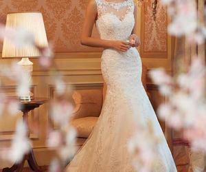 wedding, wedding dress, and dress image