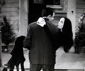 love, black and white, and the addams family image