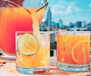 drink, summer, and orange image