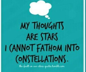 constellations, thoughts, and the fault in our stars image