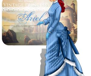 ariel, disney, and princess image