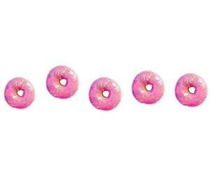donuts, transparent, and food image