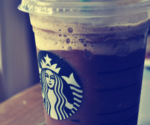 drink, frappuccino, and starbucks image