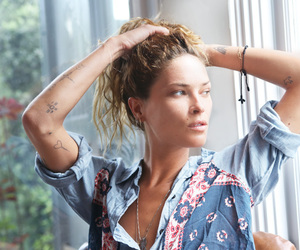 Erin Wasson and tattoo image