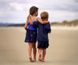 cute, beach, and kids image