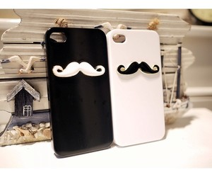 cover, iphone, and mustache image